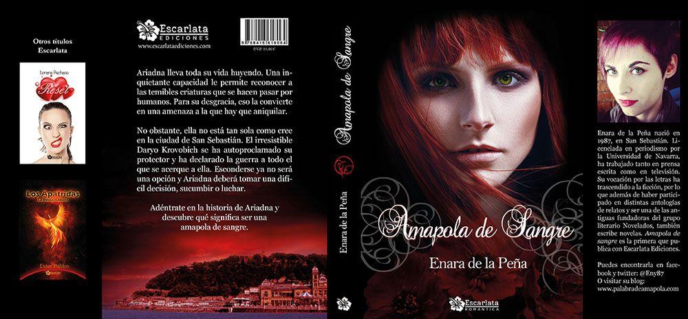 Diseño de portadas y cubiertas para autores autopublicados y editoriales. Cubierta del libro Amapola de Sangre