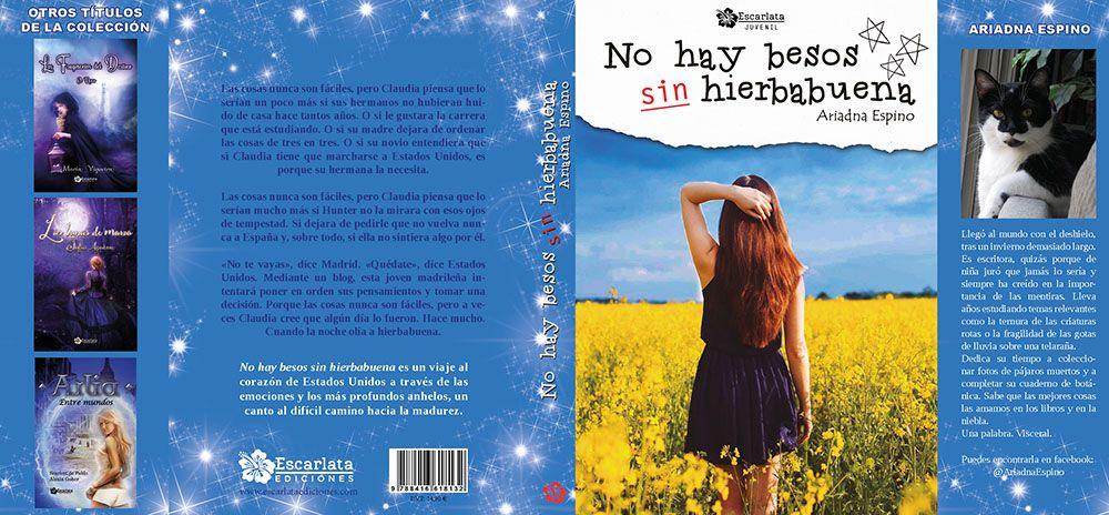 Diseño de portadas y cubiertas para autores indie y editoriales. Portada del libro Sin besos no hay hierbabuena