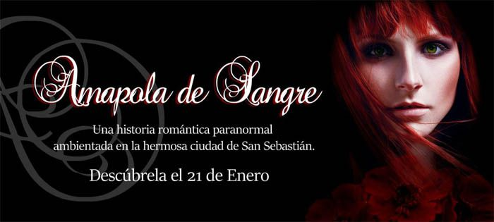 Banner promocional Amapola de Sangre. Diseño de Portadas