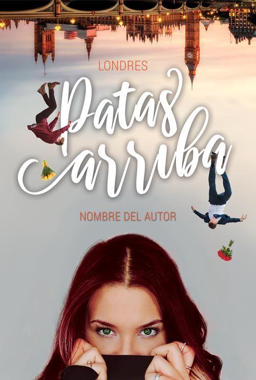 Diseño de portada para libro chick lit Patas Arriba