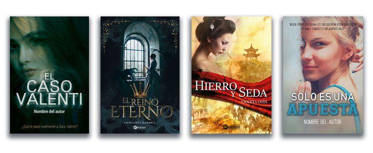 diferentes diseños de portadas para libros realizadas por Cor de Xiz design