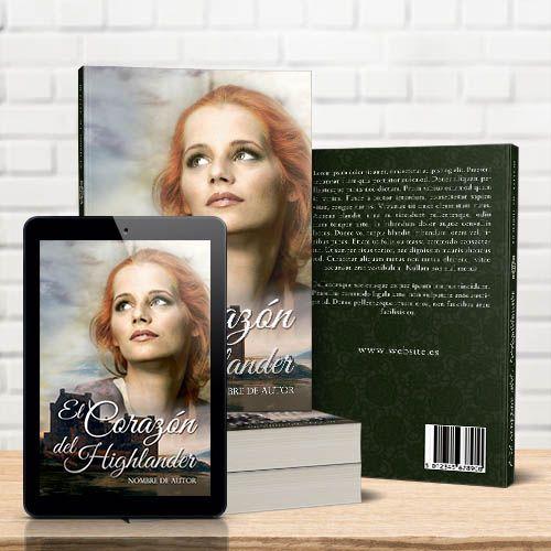 tarifa de portada prediseñada para e-book y libro físico