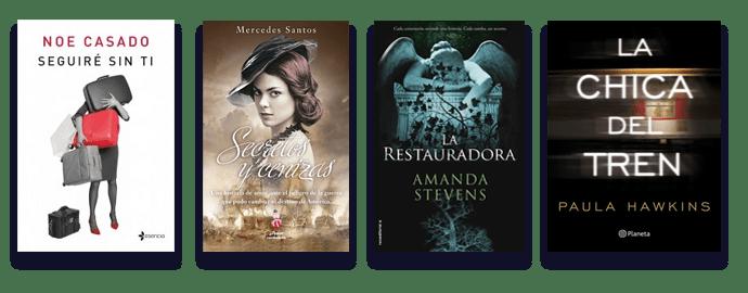 Ejemplos de portadas de libros de distintos géneros
