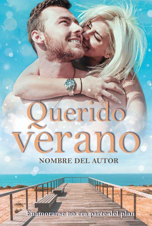 Portada prediseñada para novela romántica en verano