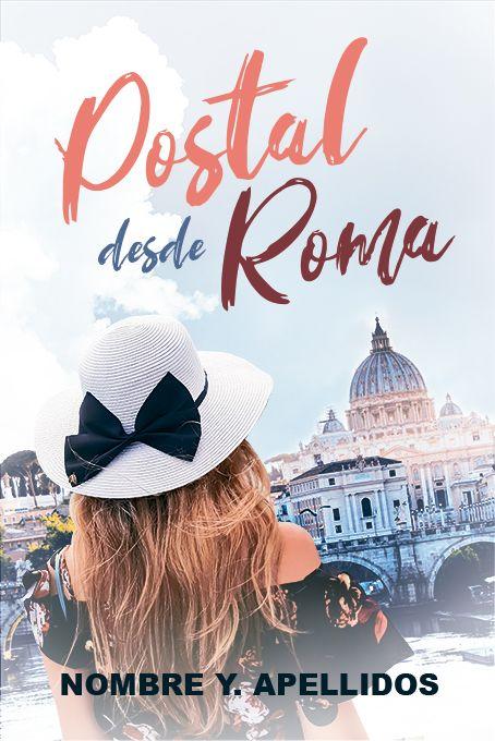 novela romantica en Roma con una chica con sombrero