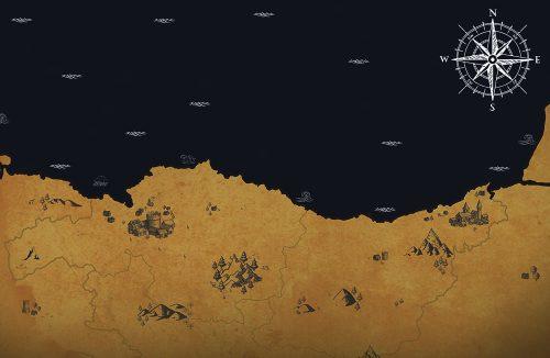 Mapa cartográfico para empresa de turismo dragonstone tours